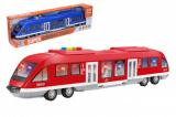 Metro/vlak plast 44cm na baterie se světlem se zvukem 2 barvy v krabici 46x12,5x7,5cm