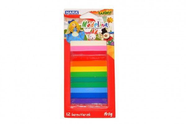 Modelína/Plastelína 12 barev 140g na kartě Wiky