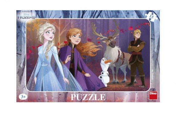 Puzzle deskové Ledové království II/Frozen II 29,5x19cm 15 dílků Dino