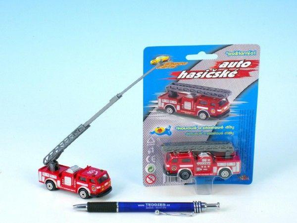 Auto hasiči kov/plast 7cm na kartě Mikro Trading