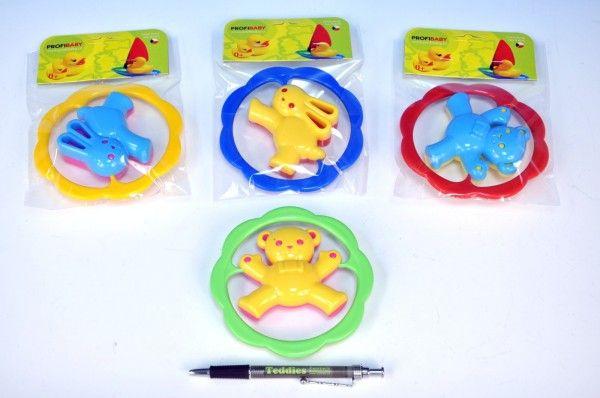 Chrastítko Medvěd/Zajíc plast 12,5cm asst 4 barvy v sáčku od Profibaby