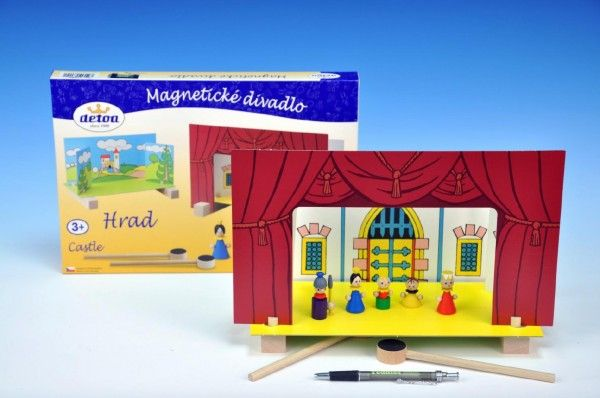 Divadlo Hrad magnetické v krabici 33,5x20x3,5cm Detoa