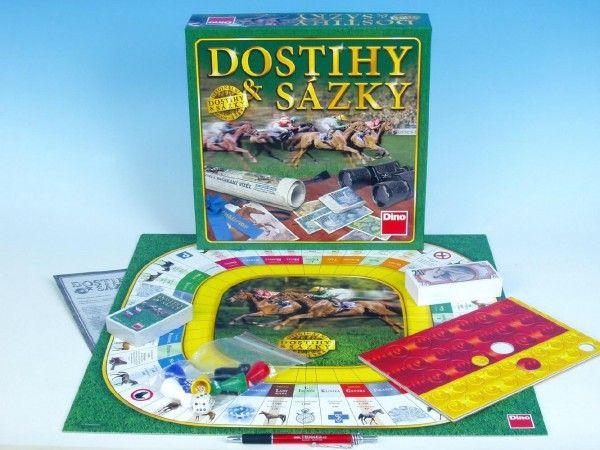 Dostihy a sázky NOVÉ společenská hra v krabici 29,5x29,5x7cm Dino