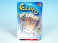 Eura peníze do hry na kartě