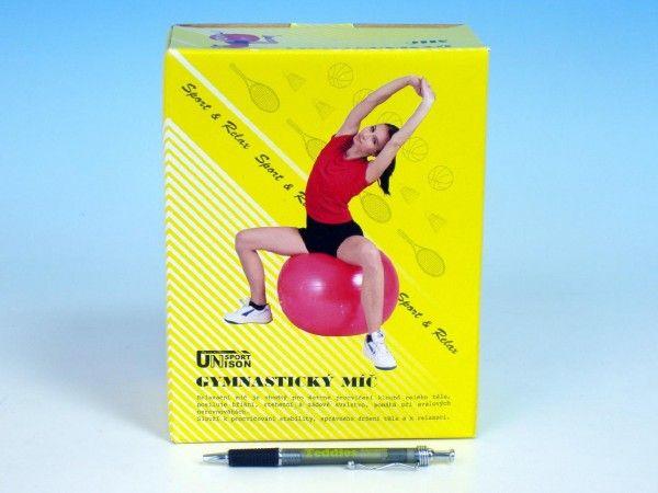 Gymnastický míč relaxační 55cm v krabici UNISON