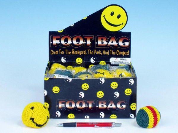 Hakisák míček footbag 6cm v sáčku 24ks v boxu Wiky