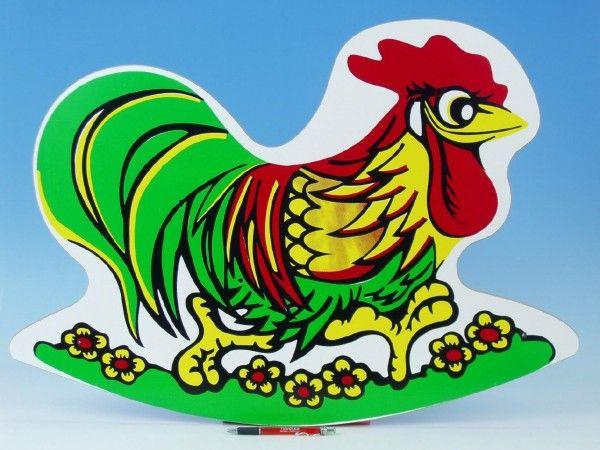 Houpadlo kohout, dřevěná hračka, pro malé děti, pro děti, houpadlo, český výrobek Wiky