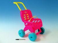 Kočárek Buggy plast 25x49x40cm kočárek pro panenky Teddies