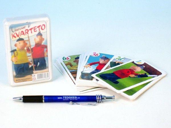 Kvarteto Pat a Mat I společenská hra - karty v plastové krabičce Bonaparte
