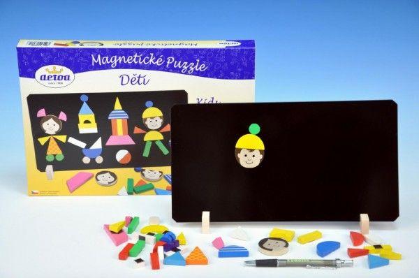 Magnetické puzzle děti v krabici 33x23x3,5cm Detoa
