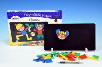 Magnetické puzzle Klauni v krabici 33x23x3,5cm Detoa