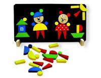 Magnetické puzzle Medvědi v krabici, puzzle, detoa, dřevěné puzzle
