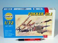 Model Fokker DR.1 8,01x9,98cm v krabici 25x14,5x4,5cm Směr