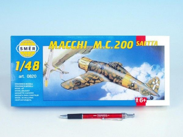 Model Macchi M.C. 200 Saetta 16,1x21,2cm v krabici 31x13,5x3,5cm Směr