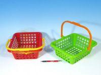 Nákupní košík plast 30x11x27cm asst 4 barvy od 12 měsíců