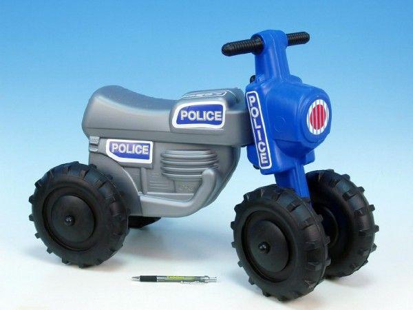 Odrážedlo CROSS Policie plast výška sedadla 28cm nosnost do 25kg asst 2 barvy od 18 měsíců Teddies