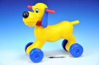 Odrážedlo pes plast výška sedadla 26cm nosnost do 20kg od 18 měsíců Teddies