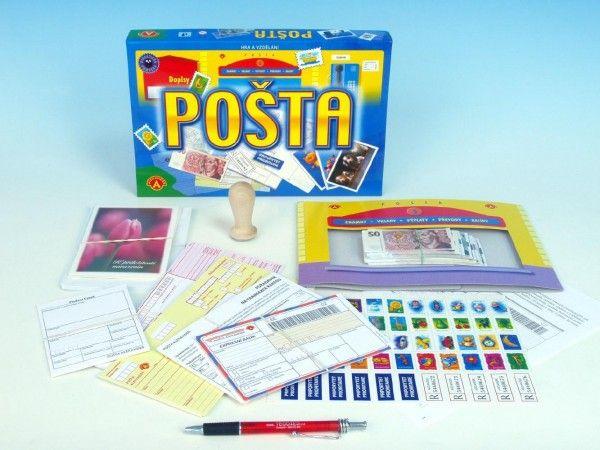 Pošta vzdělávací společenská hra v krabici 28,5x19x3,5cm PEXI