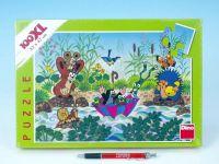 Puzzle Krtek Krtečkova plavba 47x33cm 100 dílků XXL v krabici 33x23x4cm