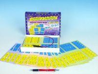 Sčítání a odčítání společenská hra na baterie v krabici 22x16x3cm Voltik toys