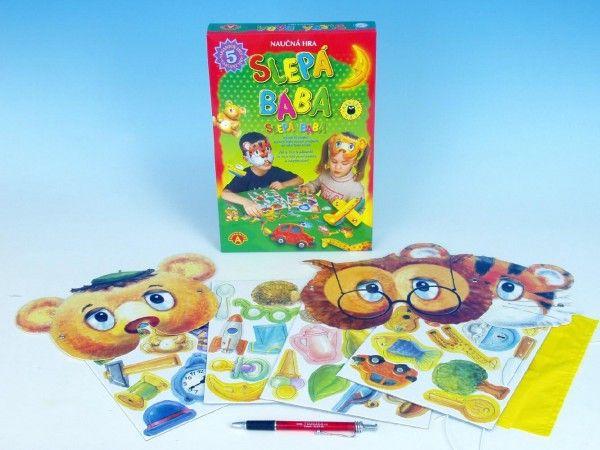 Slepá bába, poznej věci poslepu společenská hra naučná v krabici PEXI