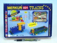 Stavebnice Merkur 031 Železniční modely 10 modelů 211ks v krabici