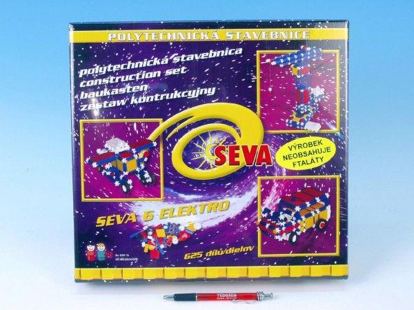 Stavebnice Seva 6 Elektro plast 625ks v karbici 35x33x8cm Vista
