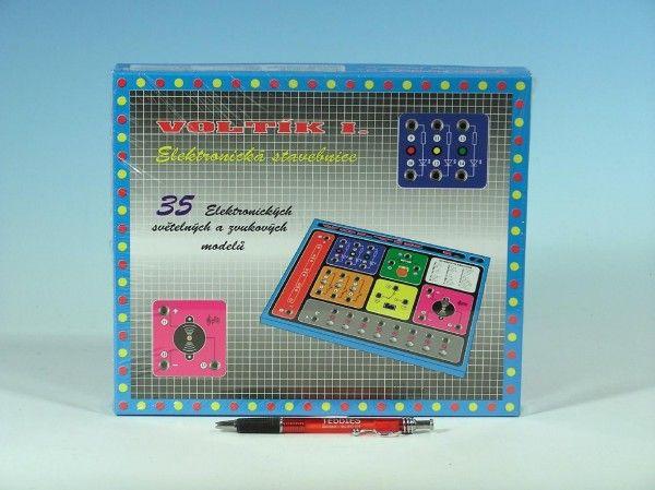 Voltík I. společenská hra na baterie v krabici 26,5x22,5x3,5cm Voltik toys