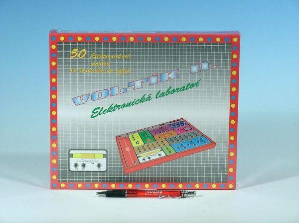 Voltík II. společenská hra na baterie v krabici 26,5x22,5x3,5cm Voltik toys