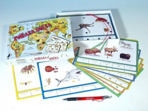 Zvířata světa společenská hra na baterie v krabici 22x16x3cm Voltik toys