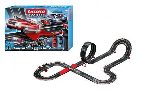 Autodráha Carrera GO!!! 62498 Supercharger 6,3m + 2 auta v krabici 58x40x12cm Conquest