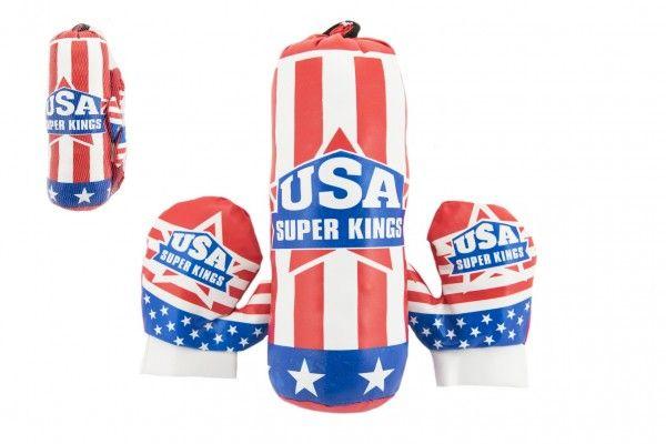 Boxovací pytel 10x33cm + rukavice v síťce Teddies