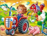 Puzzle Jezdíme na traktoru 15 dílků