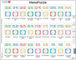 Puzzle Memo - čas slovy, digitálně, ciferník 54 dílků