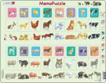 Puzzle Memo puzzle - děti, zvířátka 32 dílků