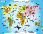 Puzzle Zvířata ve světě 28 dílků