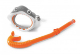 Potápěčská sada brýle + šnorchl žralok 3-8 let na kartě