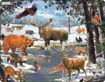 Puzzle Krajina severního  lesa 54 dílků