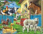 Puzzle Zvířata na farmě 25 dílků