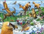 Puzzle Zvířata na horách - Alpy 55 dílků