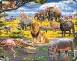 Puzzle Zvířata savany 65 dílků