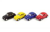 Auto Kinsmart VW Classical Beetle kov 13cm na zpětné natažení asst 4 barvy 12ks v boxu Teddies