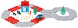 Silnice s křižovatkou autodráha plast se zvířátky