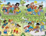 Puzzle Hrající si děti 12 dílků