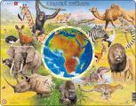 Puzzle Zvířata Afriky 90 dílků