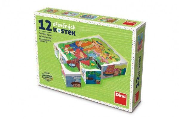 Kostky kubus Povolání dřevo 12ks v krabičce 16x12x4cm TOPA