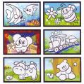 Kouzelné malování vodou asst 6 druhů na kartě 11x21cm 18ks v boxu SMT Creatoys
