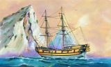 Model Black Falcon Pirátská loď 1:120 24,7x27,6cm v krabici 34x19x5,5cm Směr