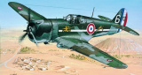 Model Curtiss P-36/H.75 Hawk 11,6x15,7cm v krabici 25x14,5x4,5cm Směr