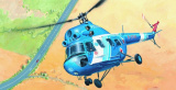 Model Kliklak Vrtulník Mil Mi 2 - Policie 27,6x30cm v krabici 34x19x5,5cm Směr
